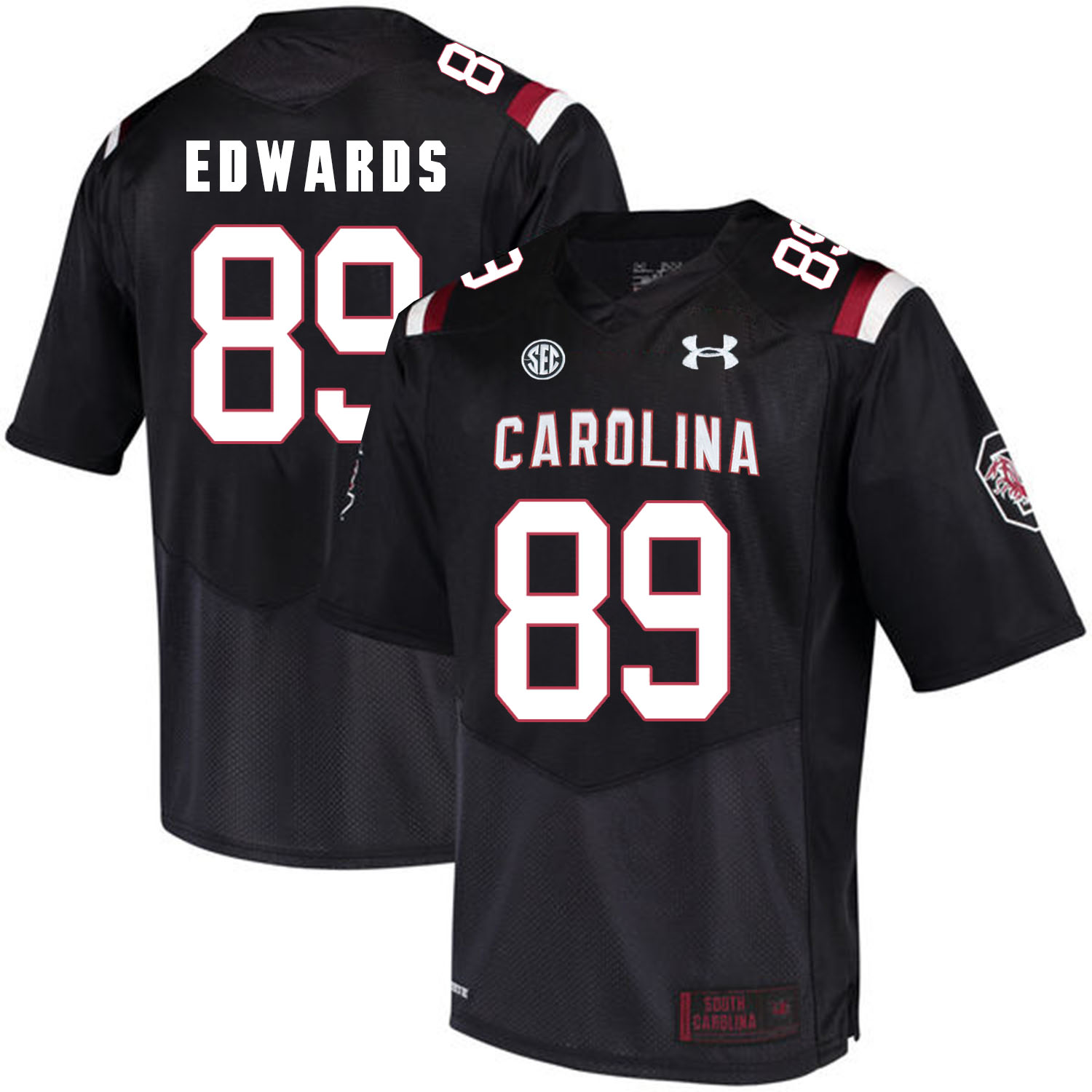 South Carolina Gamecocks 89 Bryan Edwards Black College Football Jersey