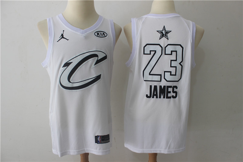 Cavaliers 23 Lebron James White 2018 All-Star Game Swingman Jersey