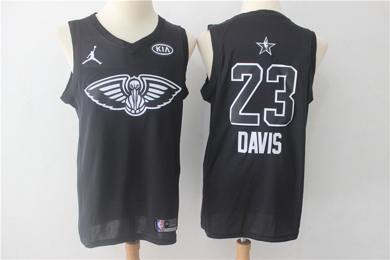Pelicans 23 Anthony Davis Black 2018 All-Star Game Swingman Jersey
