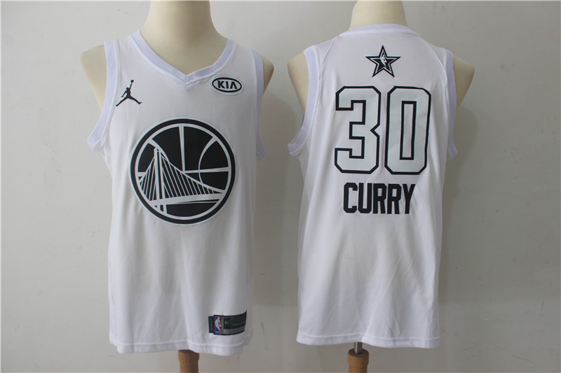 Warriors 30 Stephen Curry White 2018 All-Star Game Swingman Jersey
