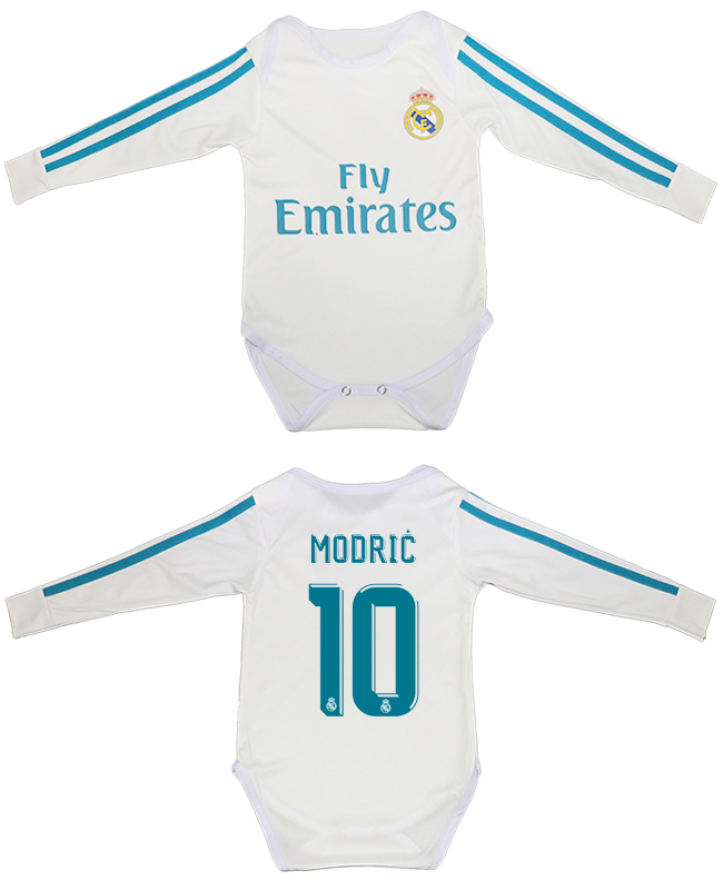 2017-18 Real Madrid 10 MODRIC Home Toddler Soccer Jersey
