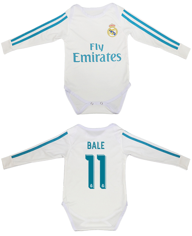2017-18 Real Madrid 11 BALE Home Toddler Soccer Jersey