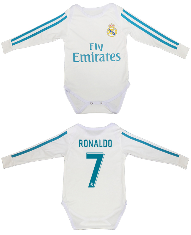 2017-18 Real Madrid 7 RONALDO Home Toddler Soccer Jersey
