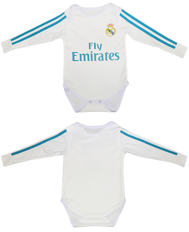 2017-18 Real Madrid Home Toddler Soccer Jersey