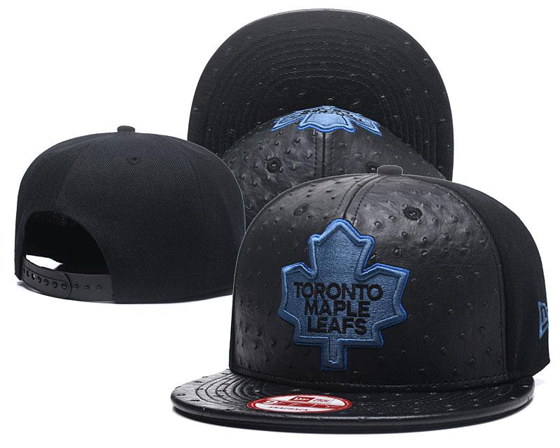 Maple Leafs Team Logo Black Adjustable Hat GS