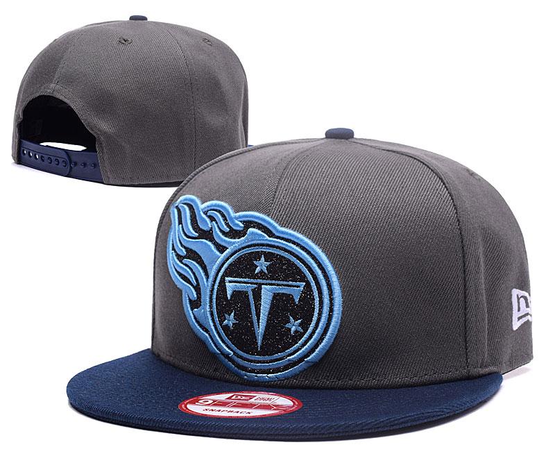 Titans Team Logo Gray Adjustable Hat GS