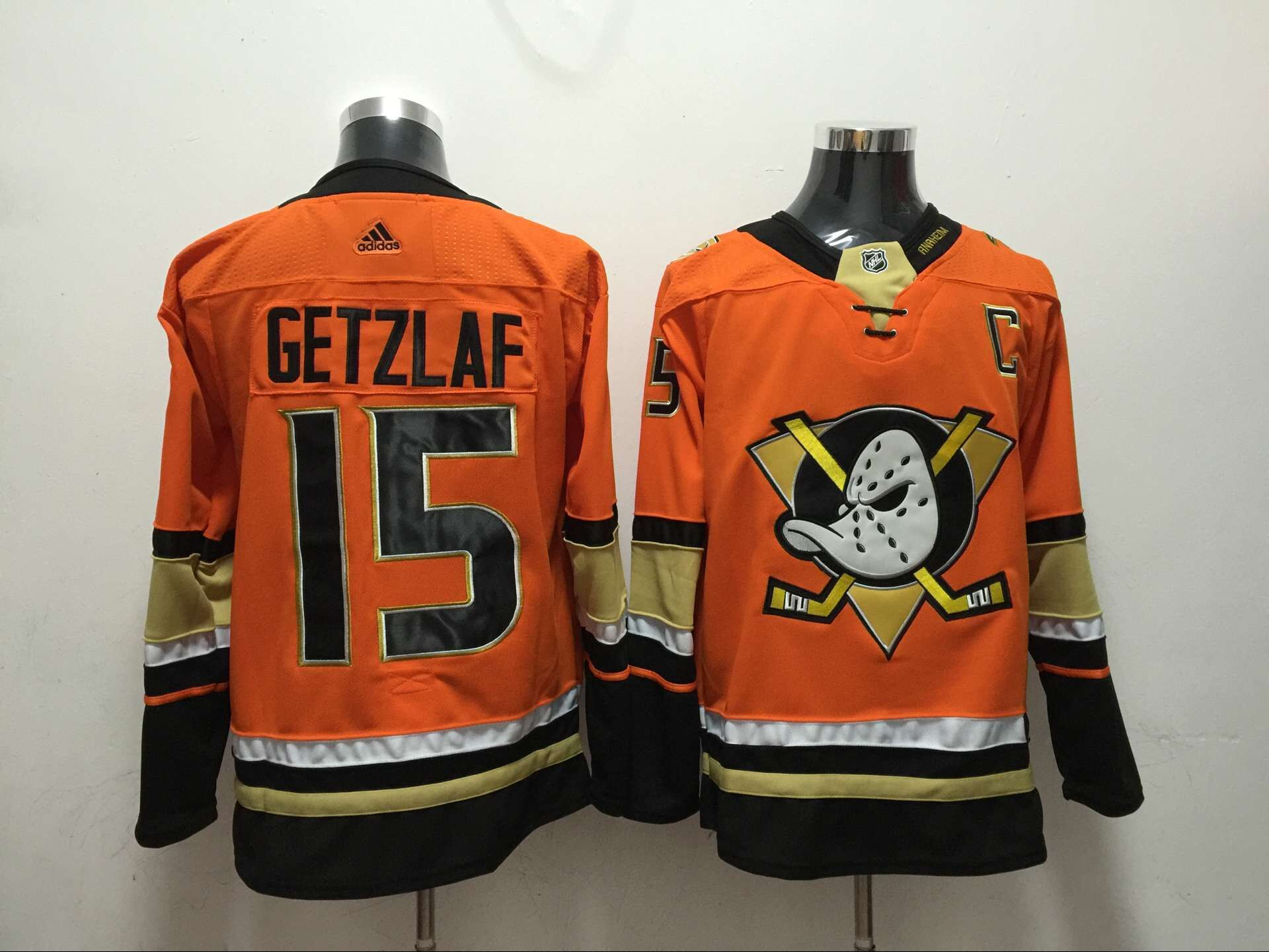 Ducks 15 Ryan Getzlaf Orange Adidas Jersey