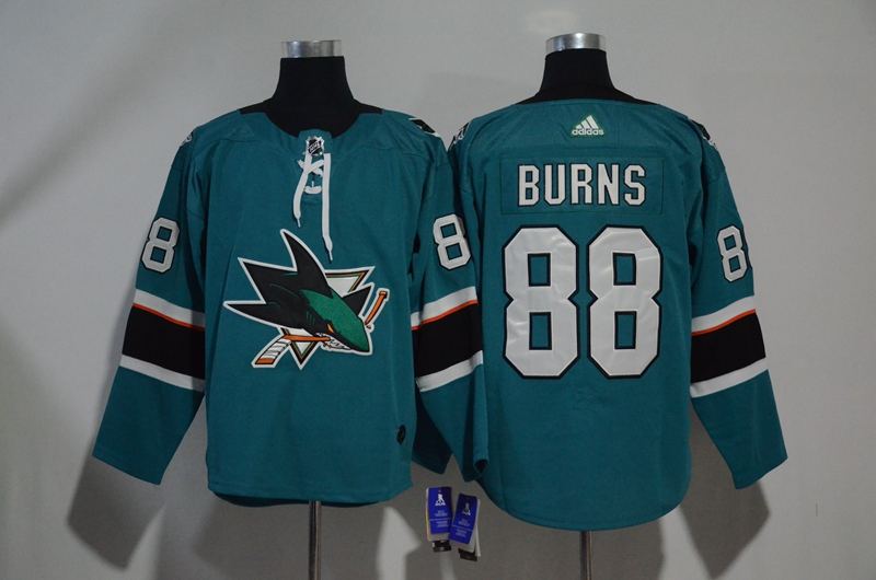 Sharks 88 Brent Burns Teal Adidas Jersey