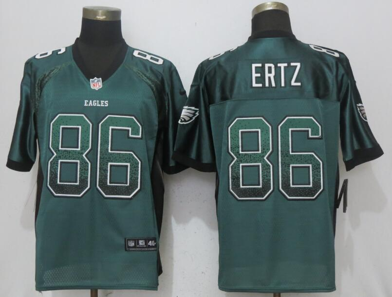Nike Eagles 86 Zach Ertz Green Drift Fashion Elite Jersey