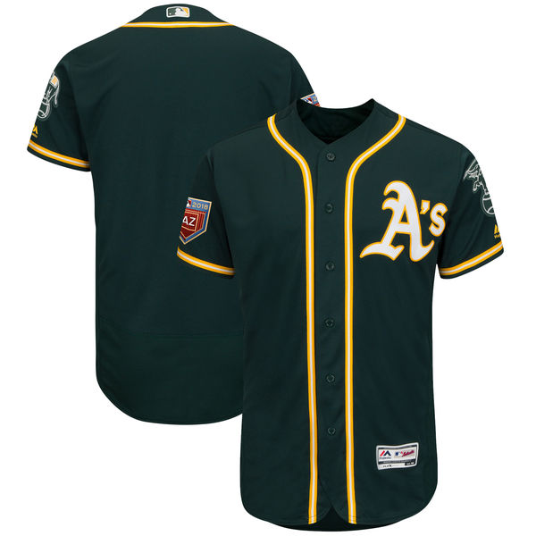 Athletics Blank Green 2018 Spring Training Flexbase Jersey