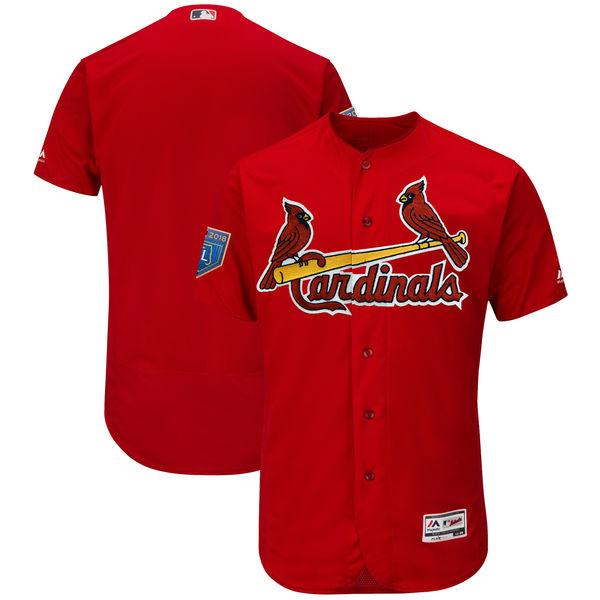 Cardinals Blank Red 2018 Spring Training Flexbase Jersey