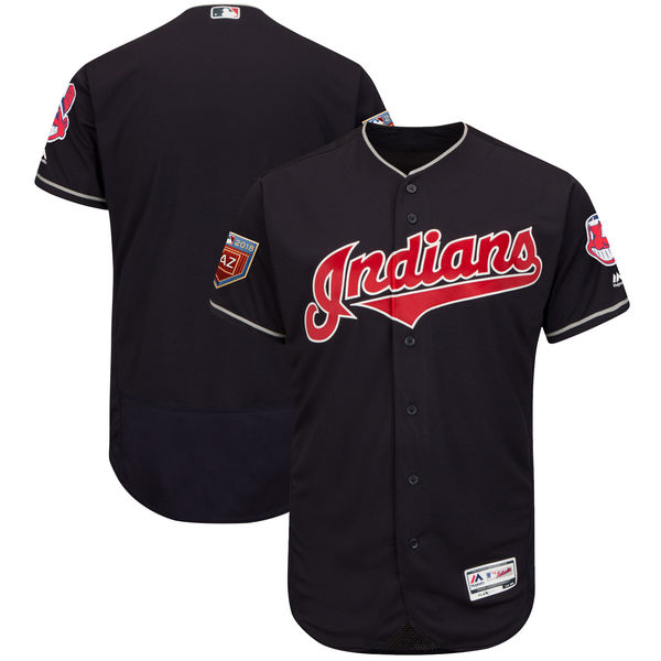 Indians Blank Navy 2018 Spring Training Flexbase Jersey