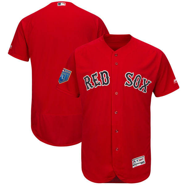 Red Sox Blank Red 2018 Spring Training Flexbase Jersey