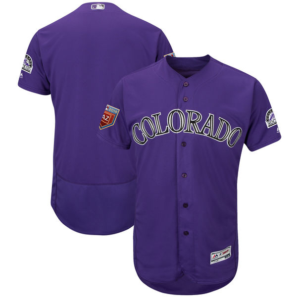 Rockies Blank Purple 2018 Spring Training Flexbase Jersey