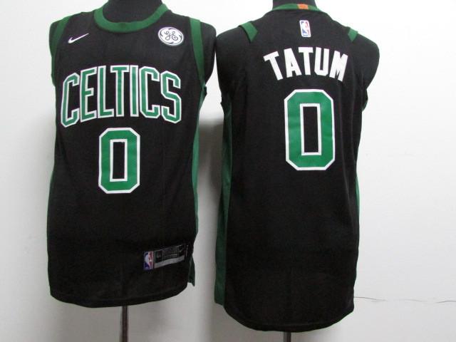 Celtics 0 Jayson Tatum Black Youth Nike Authentic Jersey