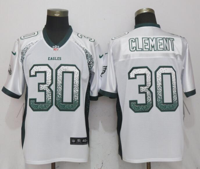 Nike Eagles 30 Corey Clement White Drift Fashion Elite Jersey
