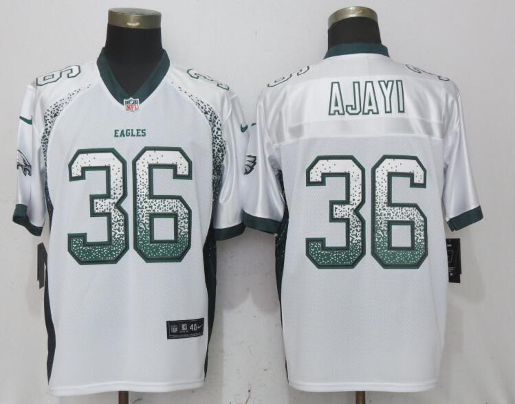 Nike Eagles 36 Jay Ajayi White Drift Fashion Elite Jersey