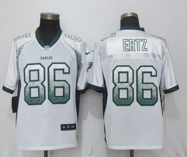Nike Eagles 86 Zach Ertz White Drift Fashion Elite Jersey