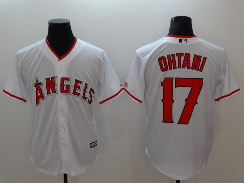 Angels 17 Shohei Ohtani White Cool Base Jersey