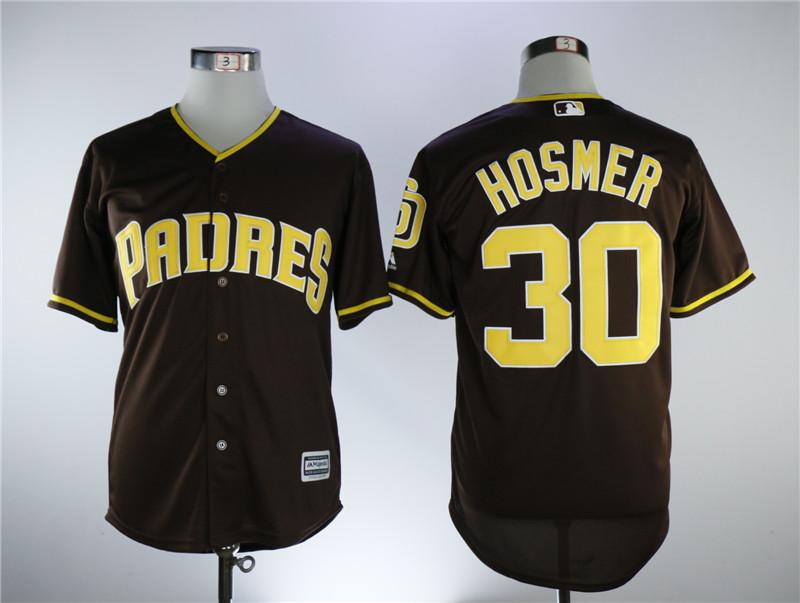 Padres 30 Eric Hosmer Brown Alternate Cool Base Jersey