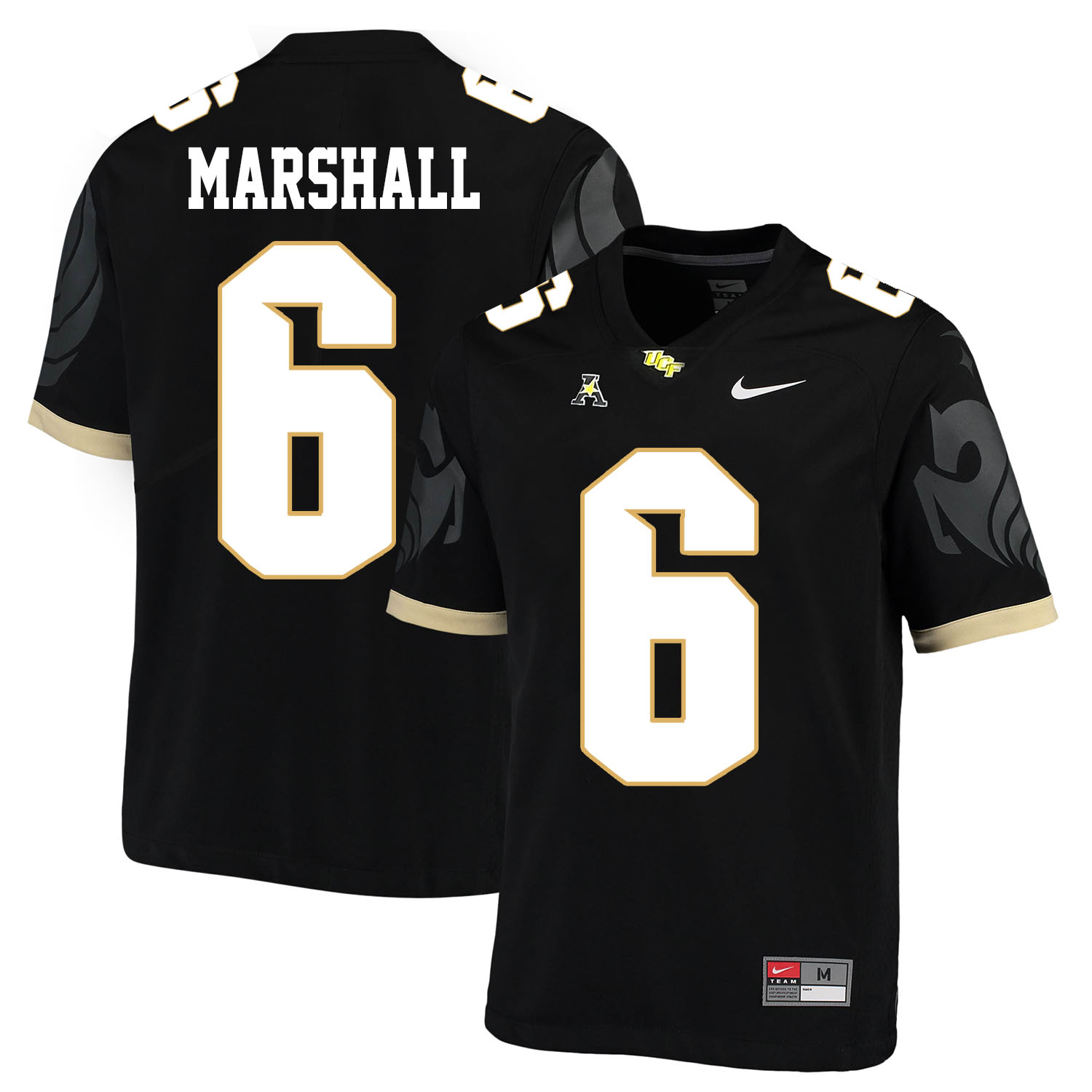 UCF Knights 6 Brandon Marshall Black College Football Jersey
