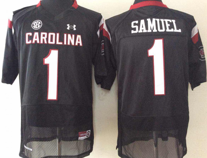 South Carolina Gamecocks 1 Gamecock Samuel Black College Football Jersey
