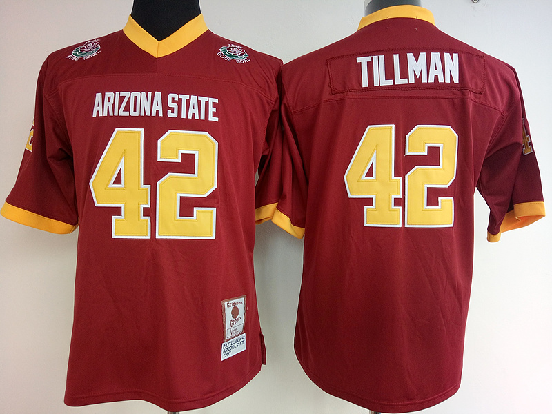 Arizona State Sun Devils 42 Pat Tillman Red College Football Jersey