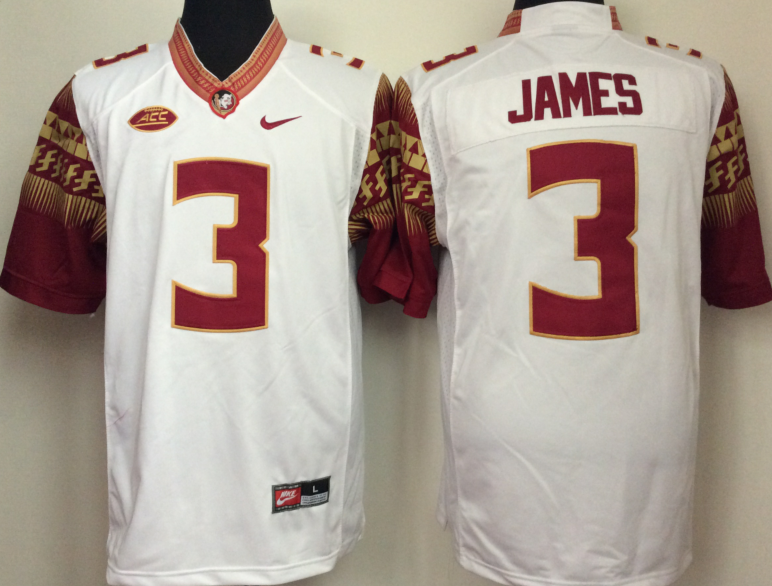 Florida State Seminoles 3 Derwin James White College Football Jersey