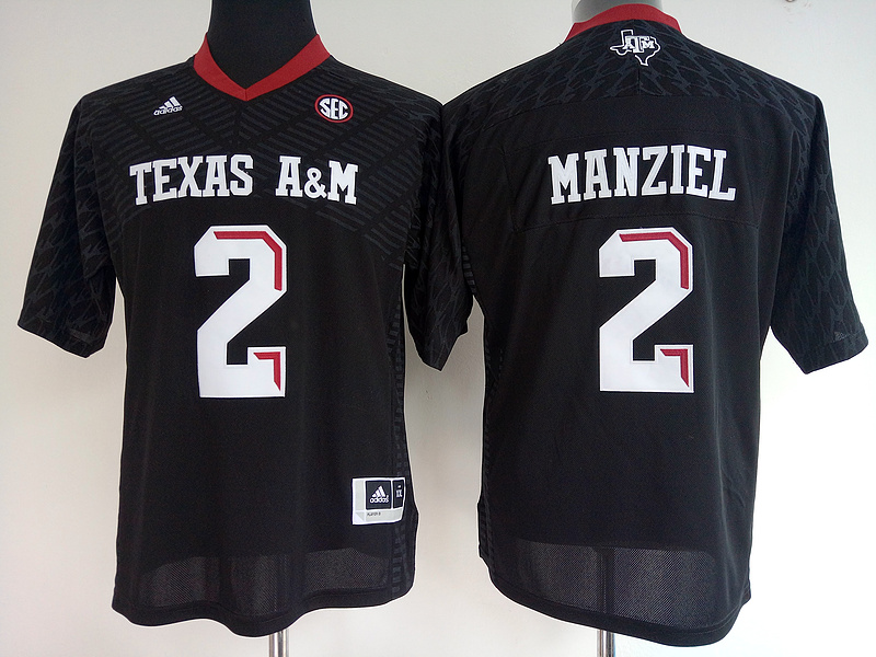 Texas A&M Aggies 2 Johnny Manziel Black College Football Jersey