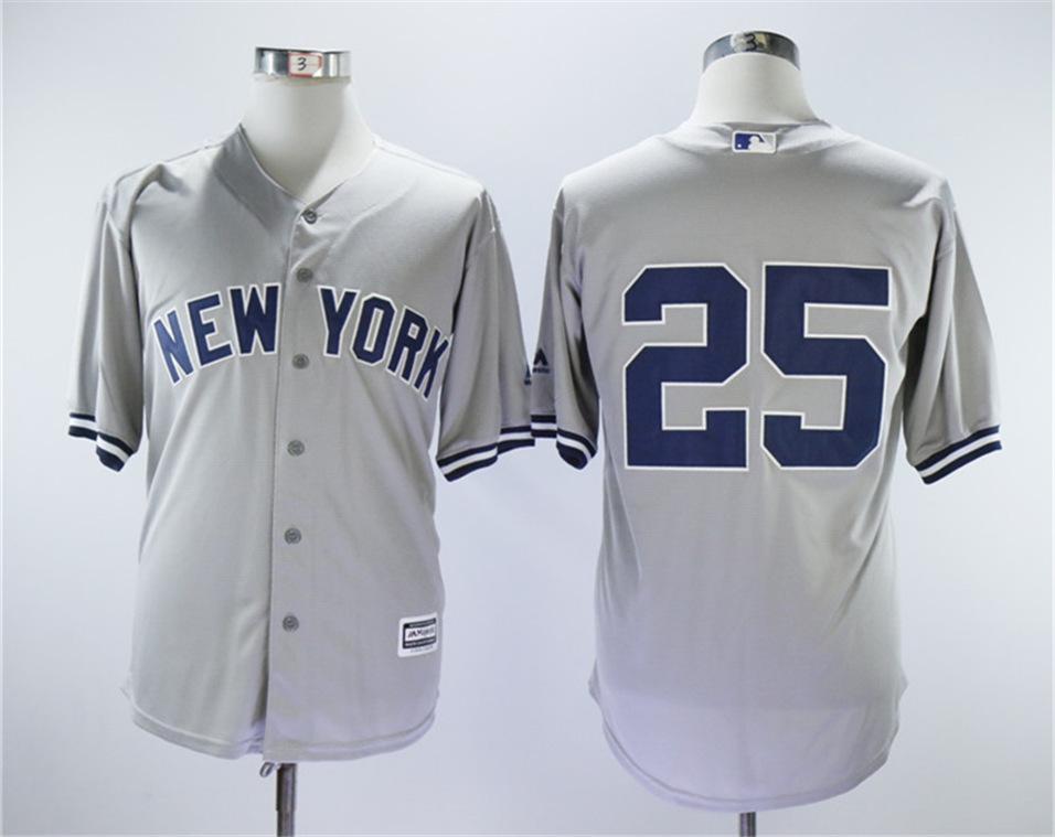 Yankees 25 Gleyber Torres Gray Cool Base Jersey