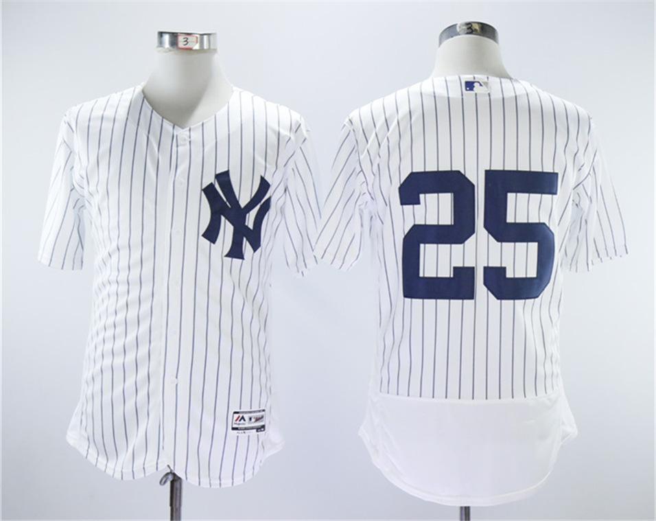 Yankees 25 Gleyber Torres White Flexbase Jersey