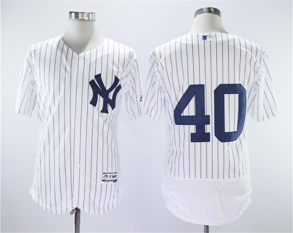 Yankees 40 Luis Severino White Flexbase Jersey