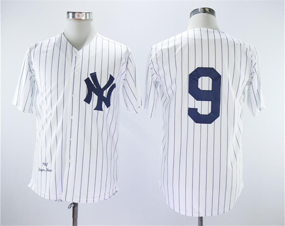 Yankees 9 Roger Maris White 1961 Throwback Jersey