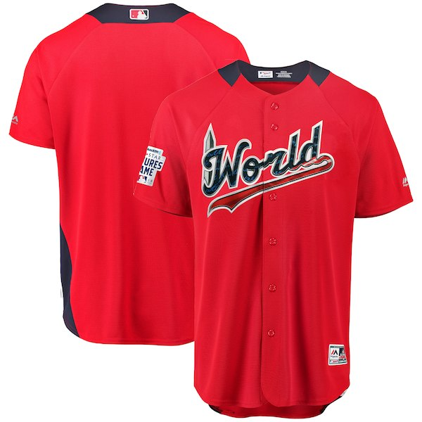 World Scarlet 2018 MLB All-Star Futures Game On-Field Team Jersey