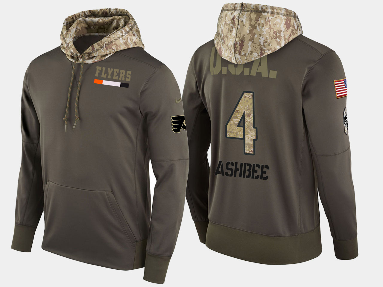 Nike Flyers 4 Barry Ashbee Retired Olive Salute To Service Pullover Hoodie