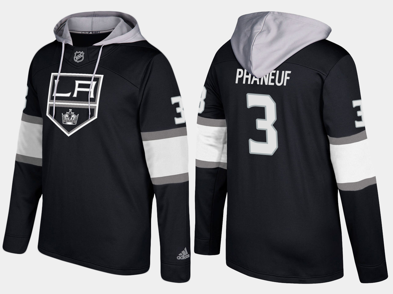 Nike Kings 3 Dion Phaneuf Name And Number Black Hoodie