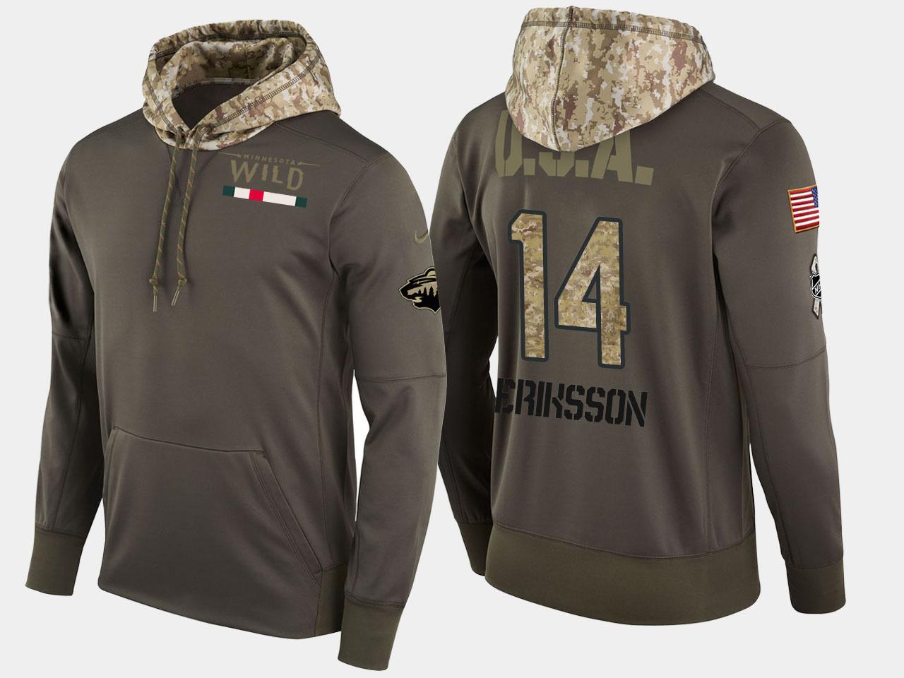 Nike Wild 14 Joel Eriksson Ek Olive Salute To Service Pullover Hoodie