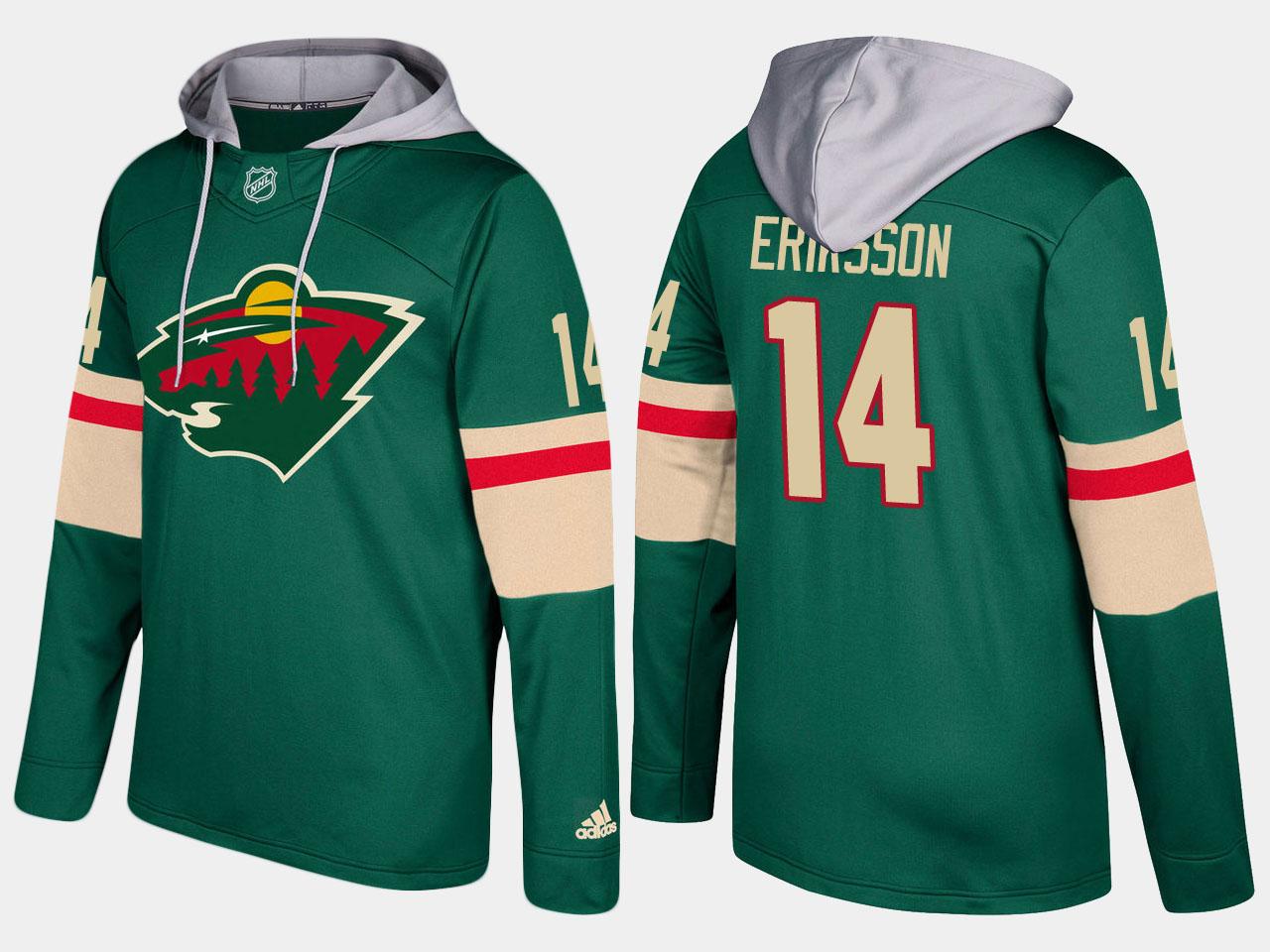 Nike Wild 14 Joel Eriksson Ek Name And Number Green Hoodie