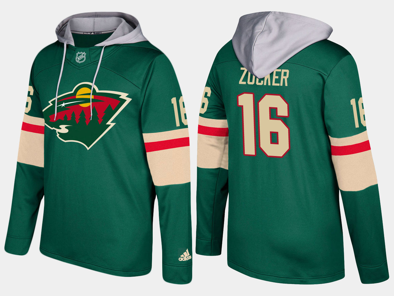 Nike Wild 16 Jason Zucker Name And Number Green Hoodie