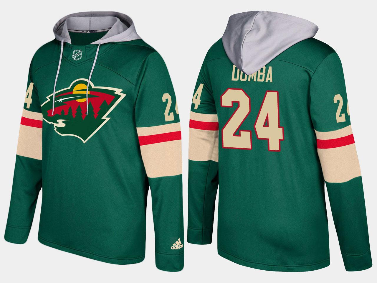Nike Wild 24 Matt Dumba Name And Number Green Hoodie