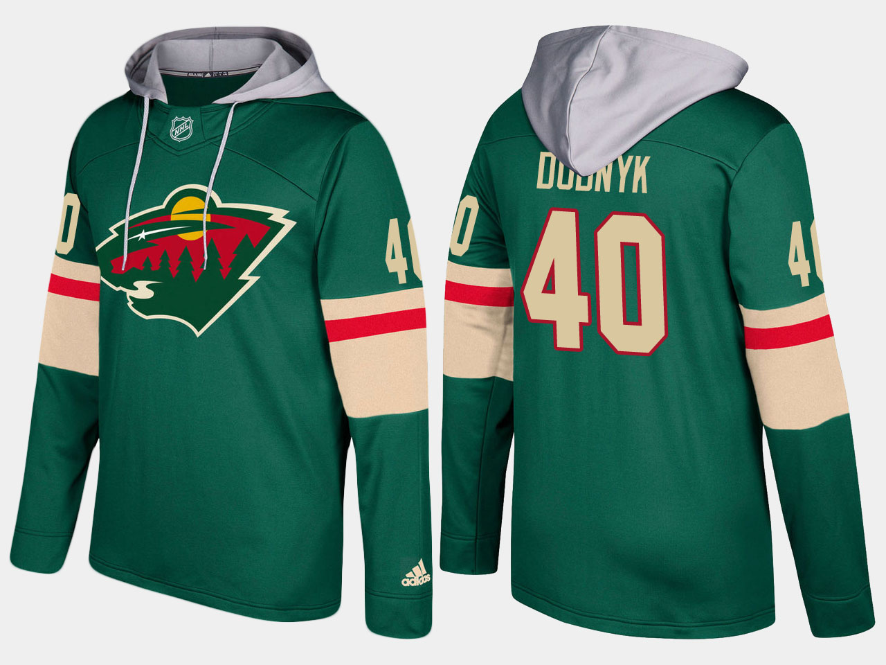 Nike Wild 40 Devan Dubnyk Name And Number Green Hoodie
