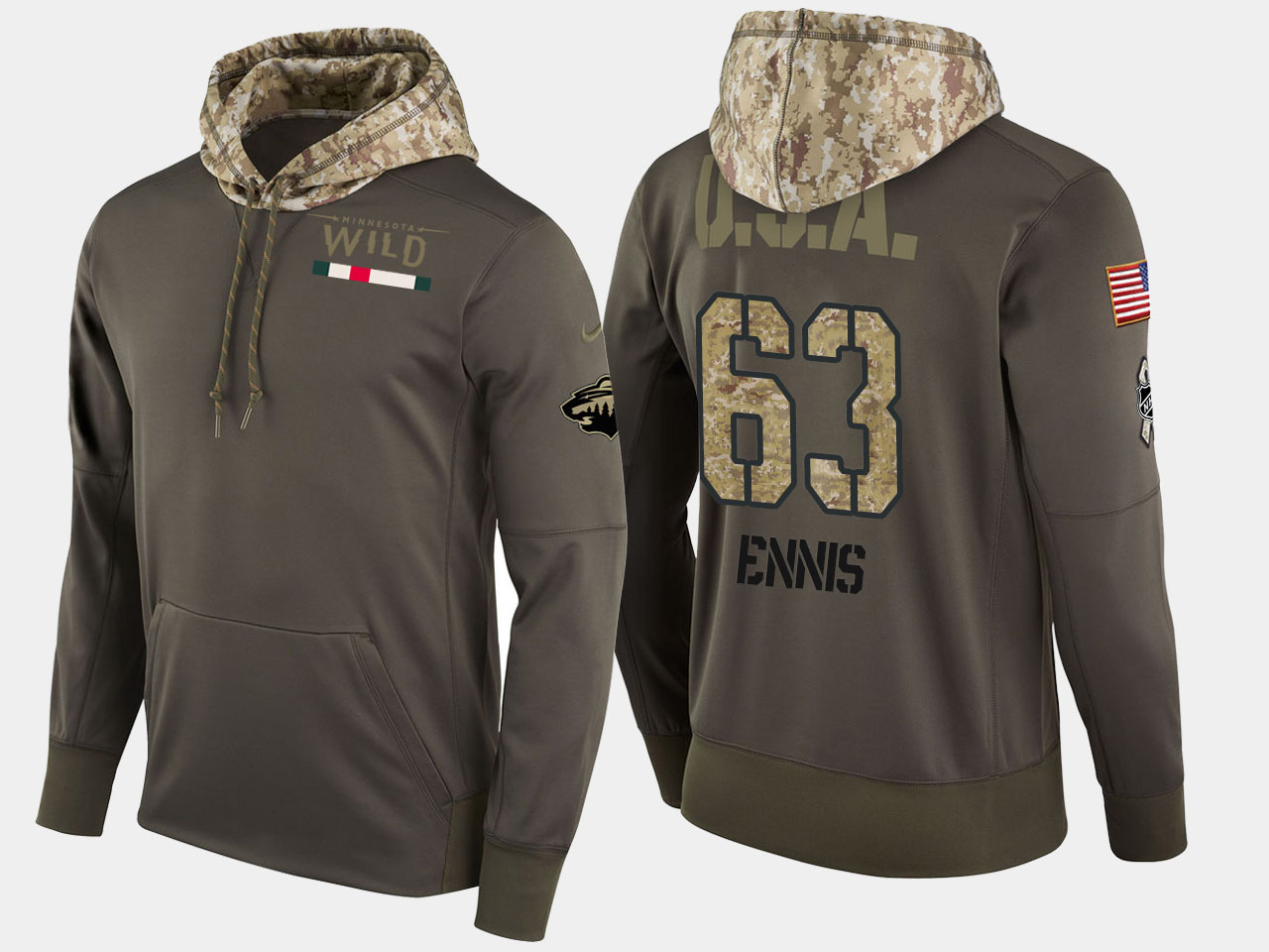 Nike Wild 63 Tyler Ennis Olive Salute To Service Pullover Hoodie