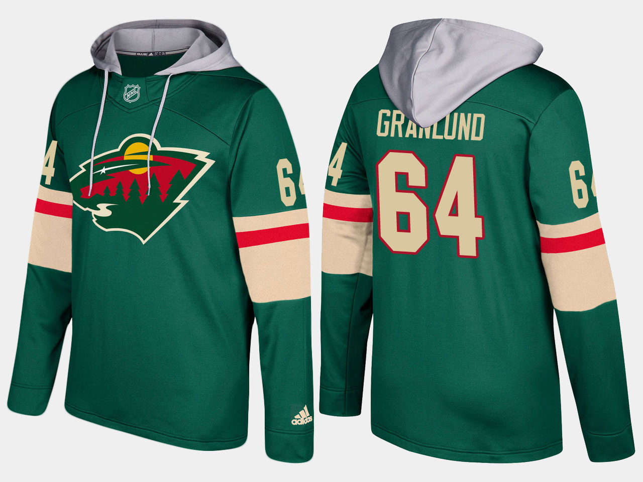Nike Wild 64 Mikael Granlund Name And Number Green Hoodie
