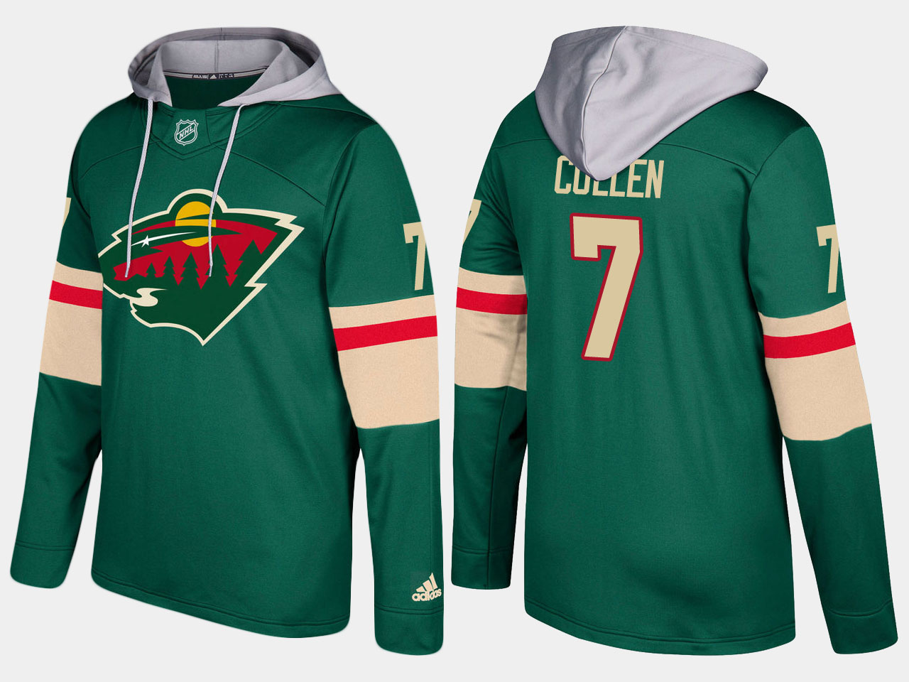 Nike Wild 7 Matt Cullen Name And Number Green Hoodie