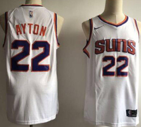 Suns 22 Deandre Ayton White Nike Swingman Jersey(Without The Sponsor Logo)