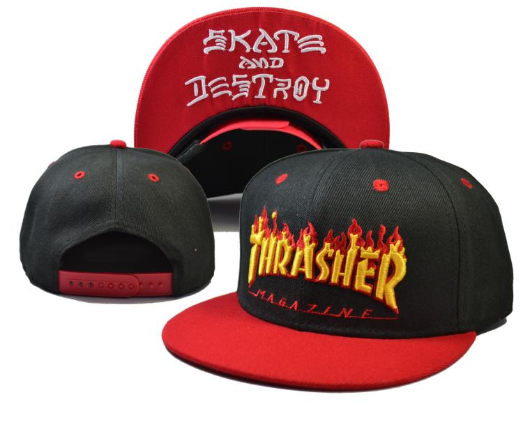 Thrasher Skate And Destroy Black Fashion Adjustable Hat LH