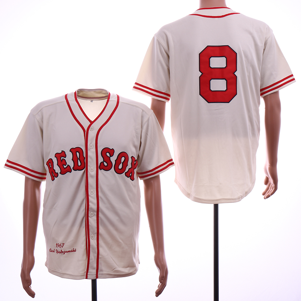 Red Sox 8 Carl Yastrzemski Cream 1967 Throwback Jersey