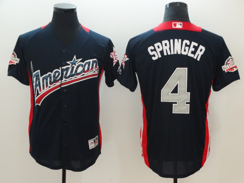 American League 4 George Springer Navy 2018 MLB All-Star Game Home Run Derby Jersey