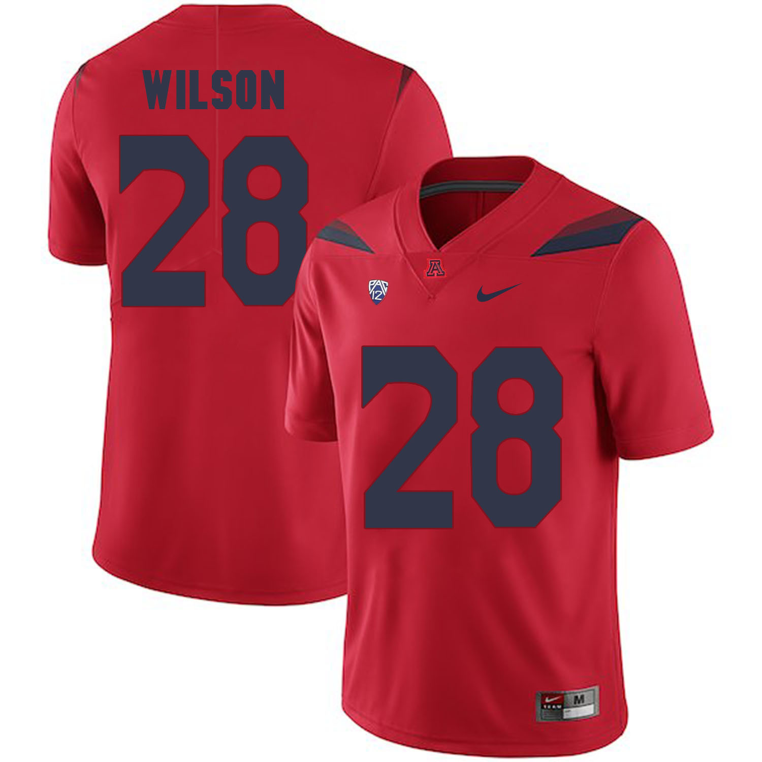 Arizona Wildcats 28 Nick Wilson Red College Football Jersey
