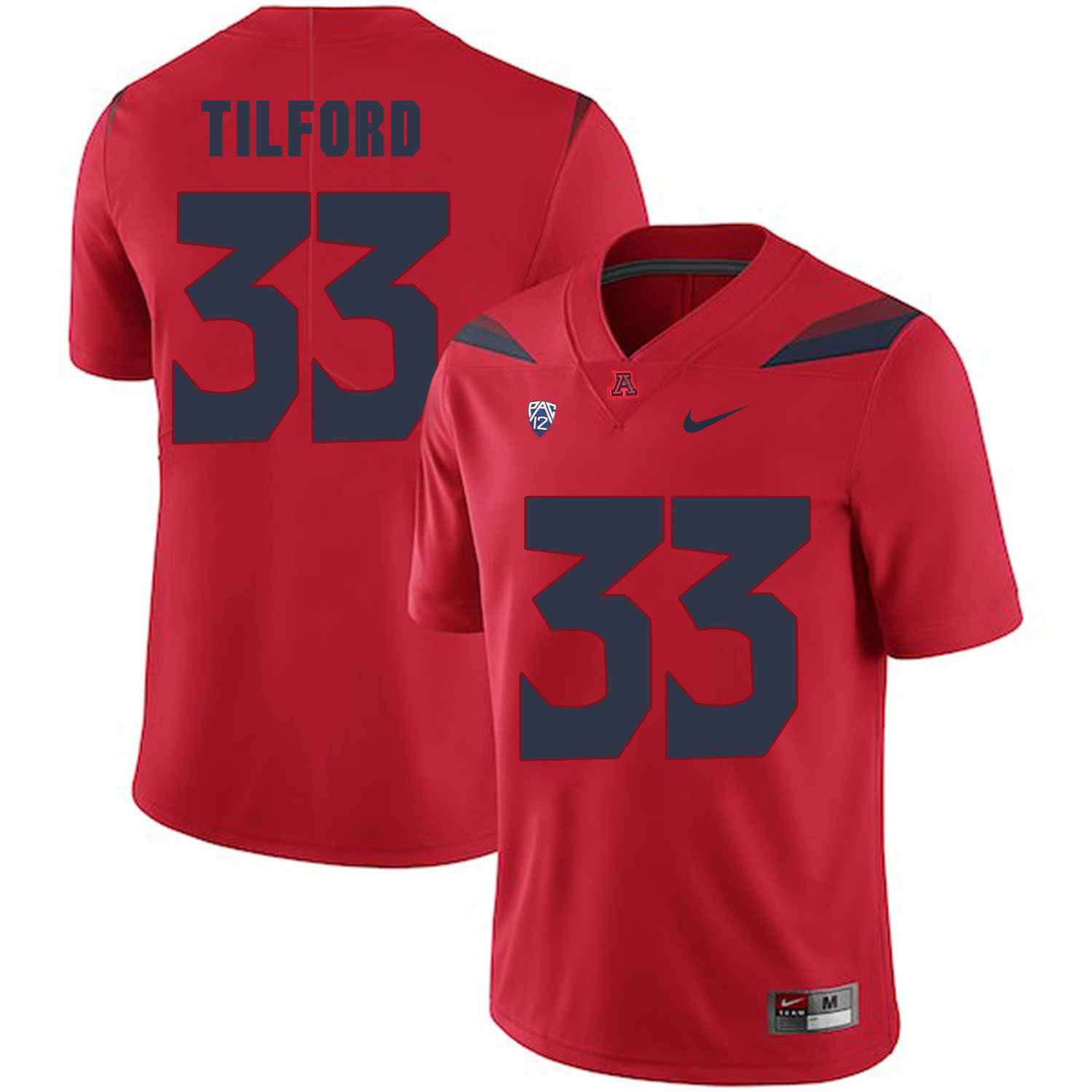 Arizona Wildcats 33 Nathan Tilford Red College Football Jersey